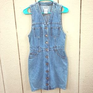 VTG Arizona denim jumper dress size 5